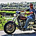 Biker On The Loop by Alice Gipson