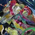 Bild Mit Weissen Linien - Painting With White Lines by Wassily Kandinsky