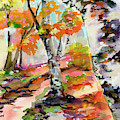 Birch Trees Around The Bend by Ginette Callaway