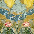 Birds In Flight Design by Charles Francis Annesley Voysey