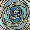 Black And White Fractal Design, Multicolored Background by Joney Jackson