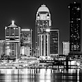 Black And White Louisville At Night by Dan Sproul