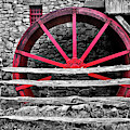 Black And White With Red - Grist Mill by Luke Moore
