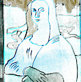 Black Ivory Mona Lisa 58 by Artist Dot