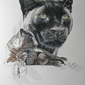 2019 Black Leopard Moving Along by Barbara Keith