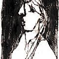 Black Side Portrait by Artist Dot