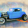 Blue 32 Ford Coupe by Rick Wicker