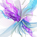 Turquoise And Purple Art by Lourry Legarde