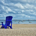 Blue Beach Chair Provincetown Cape Cod Massachusetts 01 by Thomas Woolworth