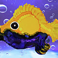 Blue Beard Funky Fish by Christine Dekkers