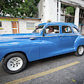 Blue Classic Taxi In Havana by Mark Duehmig