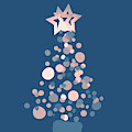 Blue Confetti Christmas Tree  by Rachel Hannah