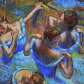 Blue Dancers By Degas Study  by Irina Sztukowski