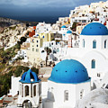 Blue Domes Of Oia by Scott Kemper