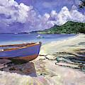 Blue Fish Boat by David Lloyd Glover