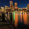 Blue Hour At Boston's Fan Pier by Kristen Wilkinson