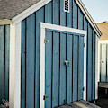 Blue Painted Boat House by Edward Fielding
