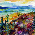 Blue Ridge Mountains Autumn Impressions by Ginette Callaway