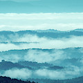 Blue Ridge Mountains Layers Upon Layers In Fog by Mike Koenig
