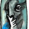 Blue Thinker by Artist Dot