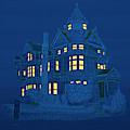Blue Victorian Mansion by David Arrigoni