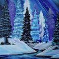 Blue Winter Aurora by Jacqueline Athmann