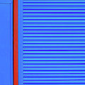 Blue With Red Stripe by Stuart Allen