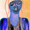 Blue Woman by Artist Dot