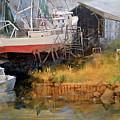 Boat In Drydock by Dan Nelson