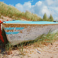 Boat In The Dune - Texel by Angela Doelling AD DESIGN Photo and PhotoArt