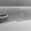 Boat On Misty Lake by Avtg