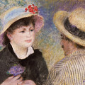 Boating Couple  Said To Be Aline Charigot And Renoir      by Pierre Auguste Renoir