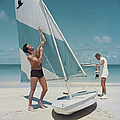 Boating In Antigua by Slim Aarons