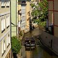Boating Through Prague by Les Palenik