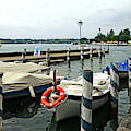 Boats At Lake Garda by Liz Alderdice