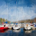 Boats In Brixham Harbour by Seascapes