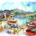 Boats In Ezaro In Galicia 03 by Miki De Goodaboom