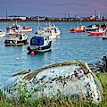 Boats In Harbour, South Gare by Martyn Arnold