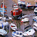 Boats In The Harbor - Twisted by Sue Harper