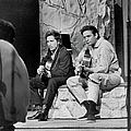 Bob Dylan & Johnny Cash by Michael Ochs Archives