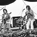 Bob Dylan & Neil Young Performing At by Richard Mccaffrey