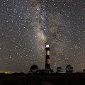 Bodie Island Lighthouse Starring The Milky Way by Terry Rowe