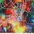 Bogota Colombia Watercolor City Street Map by Design Turnpike