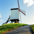 Bonne Chiere Windmill Bruges Belgium by Nathan Bush