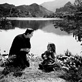 Boris Karloff As Frankenstein By The Lake With Little Girl  by Doc Braham