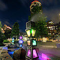 Boston Colored Steam Lights Boston Ma Rose Kennedy Greenway Steamy by Toby McGuire