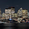 Boston Lit Up For Christmas Panorama Boston Ma Boston Skyline by Toby McGuire
