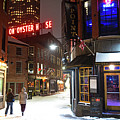 Boston Marshall Street Snowy Street Winter by Toby McGuire