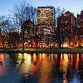 Boston Reflections - Public Garden by Joann Vitali