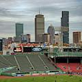 Boston Skyline From Fenway Park by Joann Vitali
